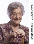 image of an elderly woman... | Shutterstock . vector #222268996
