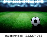 soccer field and the bright... | Shutterstock . vector #222274063