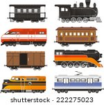 train locomotive transportation ... | Shutterstock .eps vector #222275023