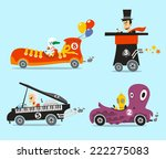 crazy cars vector illustration... | Shutterstock .eps vector #222275083