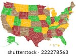 a large and detailed map of the ... | Shutterstock .eps vector #222278563