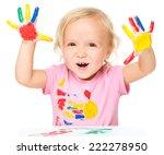 portrait of a cute little girl... | Shutterstock . vector #222278950