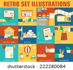 set of flat communication... | Shutterstock .eps vector #222280084