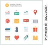 pixel perfect flat icons set of ... | Shutterstock .eps vector #222280384