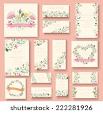 colorful greeting wedding... | Shutterstock .eps vector #222281926