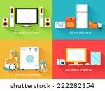 flat modern home electronics... | Shutterstock .eps vector #222282154