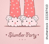 slumber party invitation | Shutterstock .eps vector #222287410