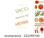 different spices and herbs  on... | Shutterstock . vector #222290740