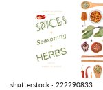 different spices and herbs  on... | Shutterstock . vector #222290833