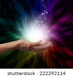 healer's hand outstretched into ... | Shutterstock . vector #222292114