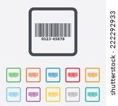 bar code sign icon. scan code... | Shutterstock . vector #222292933