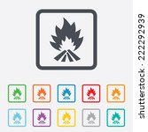 fire flame sign icon. heat... | Shutterstock . vector #222292939