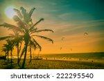 praia de cumbuco   fortaleza ... | Shutterstock . vector #222295540
