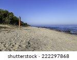 Lake Michigan shoreline with at Port Washington with a life preserver