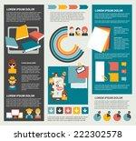 social network infographic.... | Shutterstock .eps vector #222302578