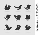 symbol set bird | Shutterstock .eps vector #222305083