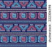 tribal vintage ethnic seamless... | Shutterstock .eps vector #222306598
