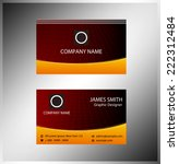 business cards template layout  | Shutterstock .eps vector #222312484