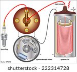 automobile ignition systems ... | Shutterstock .eps vector #222314728