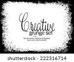 design template.abstract grunge ... | Shutterstock .eps vector #222316714