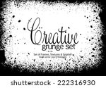design template.abstract grunge ... | Shutterstock .eps vector #222316930