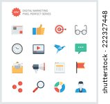 pixel perfect flat icons set of ... | Shutterstock .eps vector #222327448