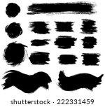 set of grunge ink vector... | Shutterstock .eps vector #222331459