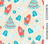 christmas seamless pattern with ... | Shutterstock .eps vector #222334876