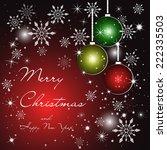 vector greeting christmas card. ... | Shutterstock .eps vector #222335503