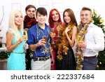 young people celebrating... | Shutterstock . vector #222337684
