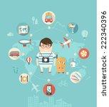 modern vector illustration... | Shutterstock .eps vector #222340396