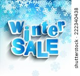 winter sale inscription  in... | Shutterstock .eps vector #222340438