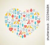 i love health. vector concept....