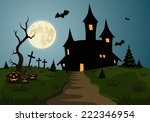 scary halloween background... | Shutterstock .eps vector #222346954
