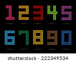 colorful numbers set style.  | Shutterstock .eps vector #222349534