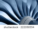 Turbo Jet Engine Of The Plane ...