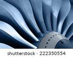 Turbo Jet Engine Of The Plane ...