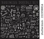 set of business doodle elements ... | Shutterstock .eps vector #222358816