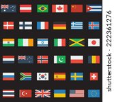 world flags vector collection.... | Shutterstock .eps vector #222361276
