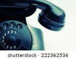 detail of old retro phone with... | Shutterstock . vector #222362536