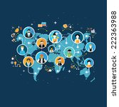 social media network connection ... | Shutterstock . vector #222363988