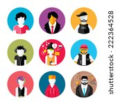 set of stylish avatar of male... | Shutterstock . vector #222364528