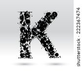 letter k formed by black and... | Shutterstock .eps vector #222367474