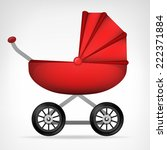 girly red stroller object on... | Shutterstock .eps vector #222371884