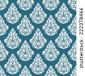 seamless teal   white damask | Shutterstock . vector #222378466