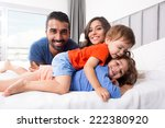 happy family enjoying the... | Shutterstock . vector #222380920
