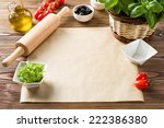food ingredients on the table ... | Shutterstock . vector #222386380