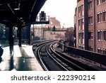 vintage train station with... | Shutterstock . vector #222390214