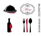 menu graphic design   vector... | Shutterstock .eps vector #222390748