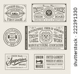 vintage union manufacturing... | Shutterstock .eps vector #222391330